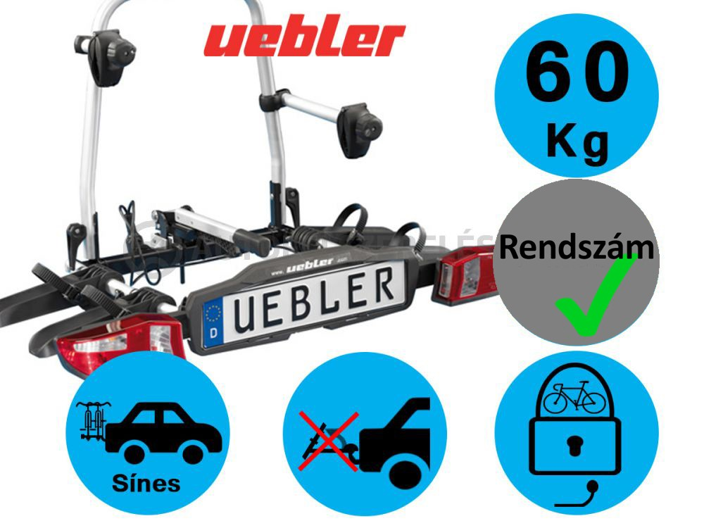 Uebler F22 Kerékpártartó Vonóhorgra