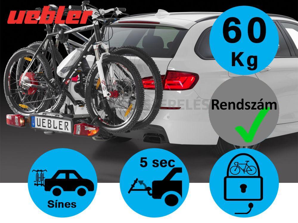 Uebler X21-S Kerékpártartó Vonóhorgra